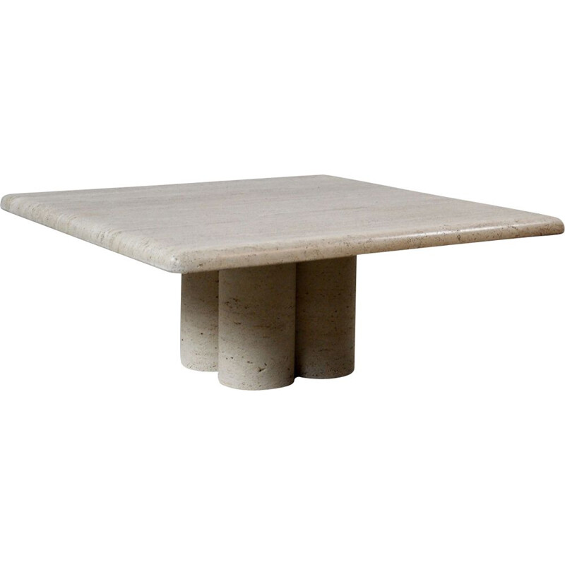 Coffee table in travertine by Mario Bellini for Cassina