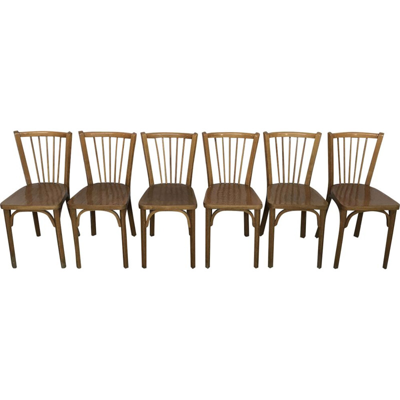 Set of 6 Baumann bistro chairs