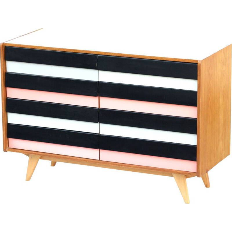 Vintage chest of drawers U-453 by Jiri Jiroutek 1965