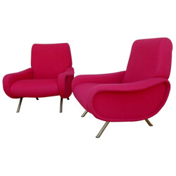 Pair of Lady armchairs, Marco ZANUSO - 1950s