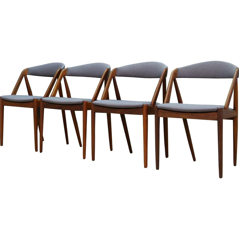 Set of 4 vintage Kristiansen scandinavian chairs 1970