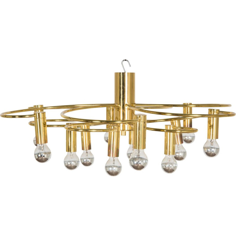 Vintage chandelier by Gaetano Sciolari for Boulanger
