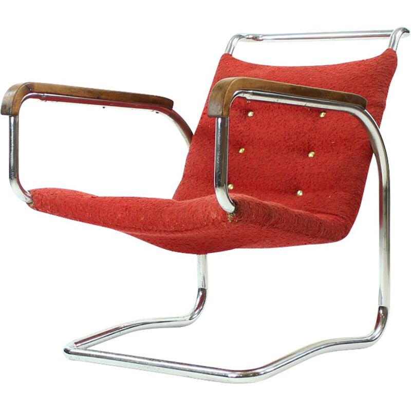 Vintage lounge chair H-91 by Halabala for UP Zavody Brno