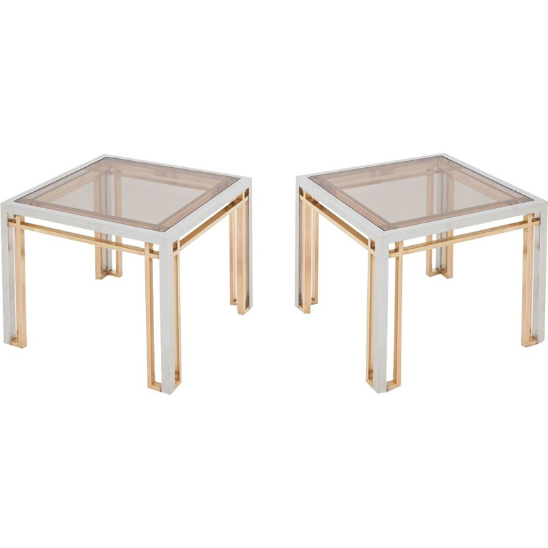 Set of 2 vintage coffee tables Romeo Rega 1970