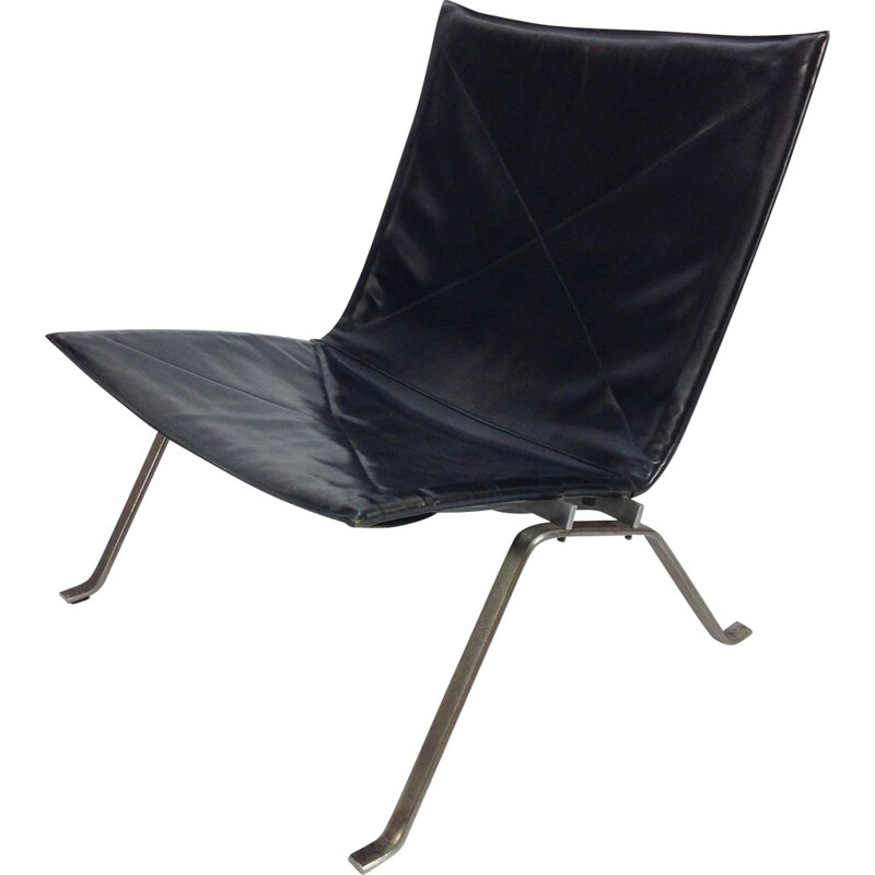 Vintage easy chair PK22 by Poul Kjaerholm for E. Kold Christensen