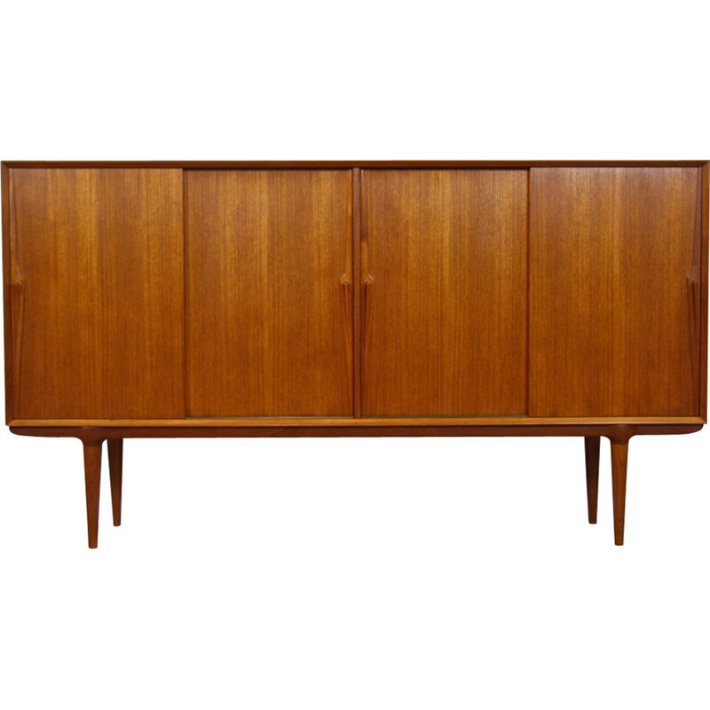 Danish highboard model nr 19 in teak by Gunni Omann for Omann Jun