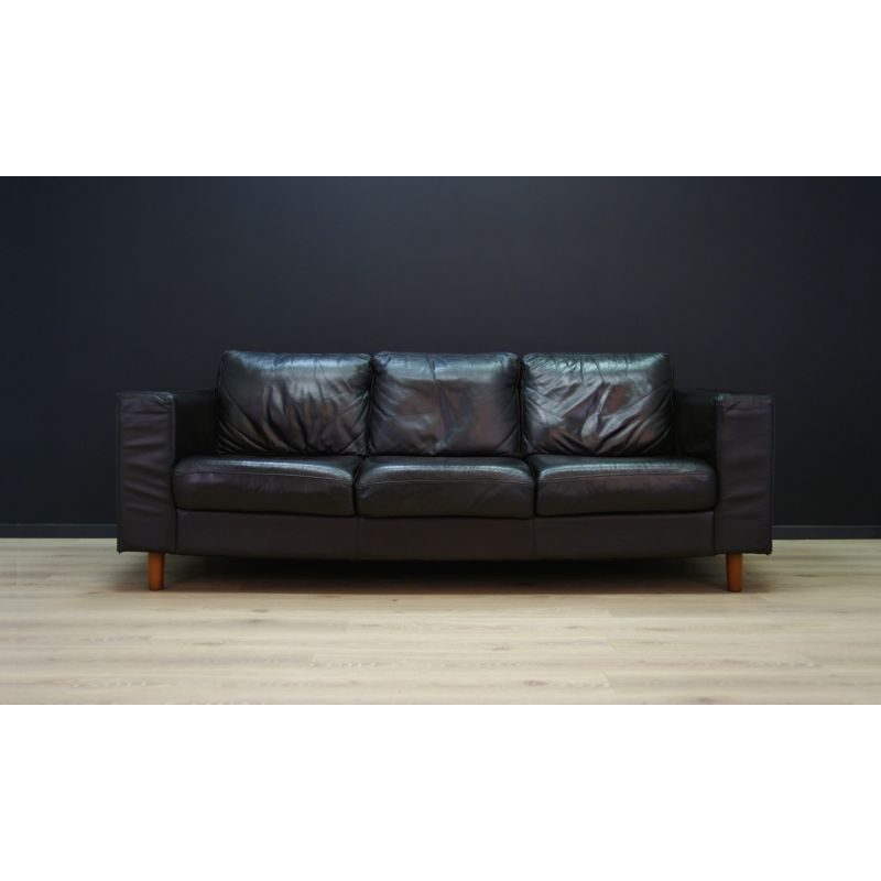 Pleasant Vintage Scandinavian Design Sofa In Black Leather 1970 Gmtry Best Dining Table And Chair Ideas Images Gmtryco