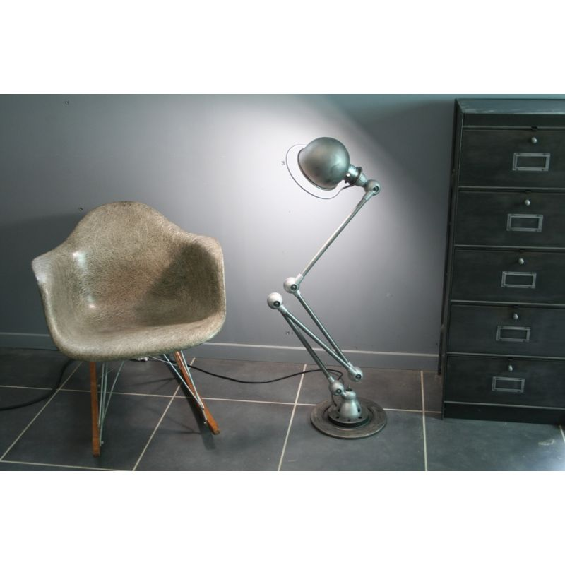 French Vintage Extensible Jielde Lamp In Steel And Aluminium
