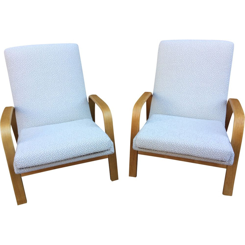 Vintage beige armchairs by ARP for Steiner