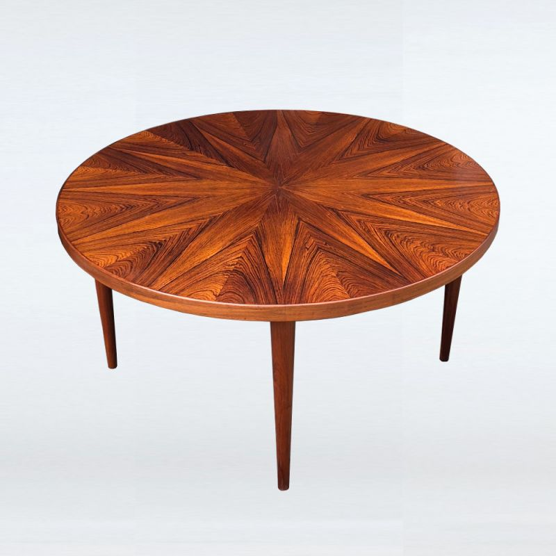 """French Market Coffee Table: Vintage """"Sunburst"""" Coffee Table By HW Klein For Bramin"""