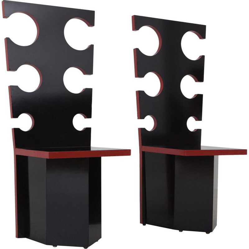 Set of 2 vintage chairs for Mario Sabot by Max Papiri