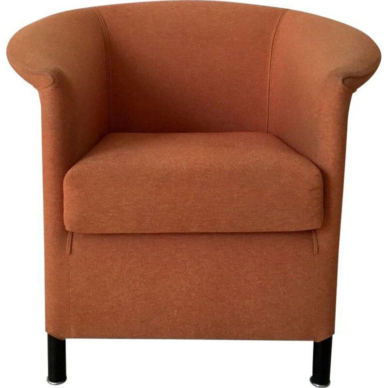 "Vintage orange armchair ""Aura"" by Paolo Piva for Wittmann"