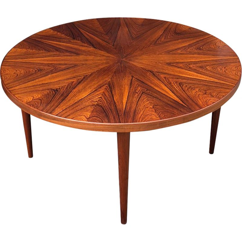 "Vintage ""Sunburst"" coffee table by HW Klein for Bramin"