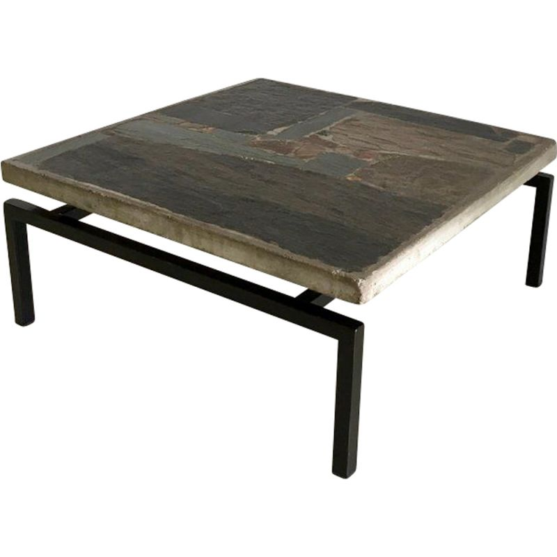 Vintage Dutch coffee table by Paul Kingma