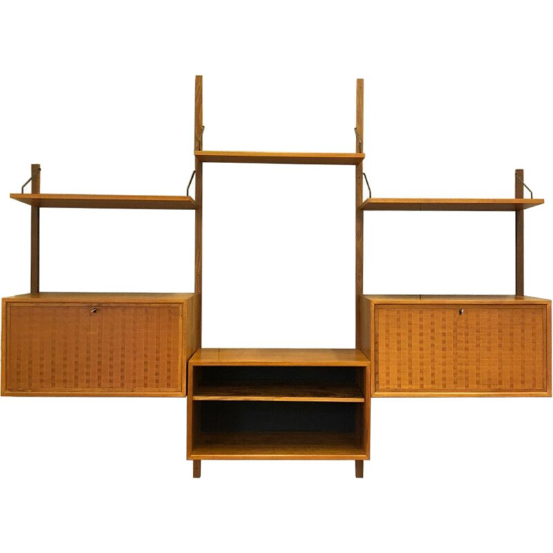 Vintage Royal wall systel in teak by Poul Cadovius