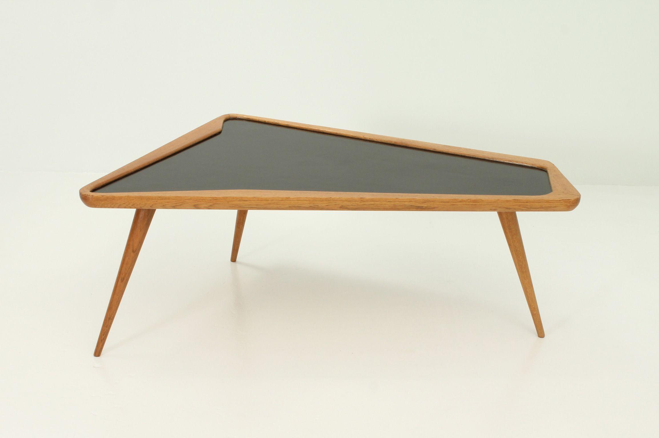 Table Basse En Formica vintage coffee table in oakwood and formicacharles ramos