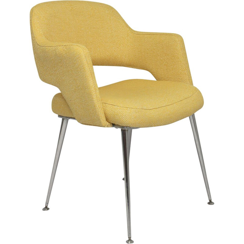 "Vintage yellow armchair ""Conference"" 1960s"