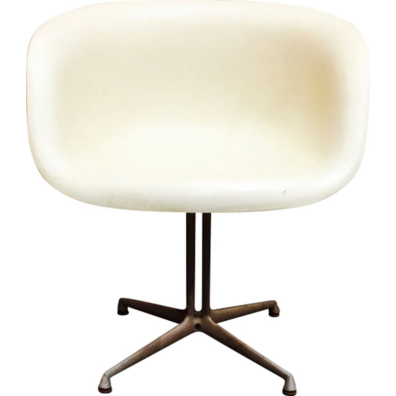 "Vintage white chair ""La Fonda"" by Charles & Ray Eames for Herman Miller"