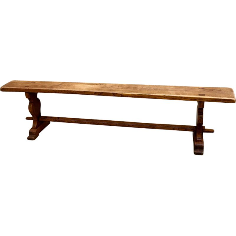 Groovy Vintage French Bench In Solid Wood Lamtechconsult Wood Chair Design Ideas Lamtechconsultcom