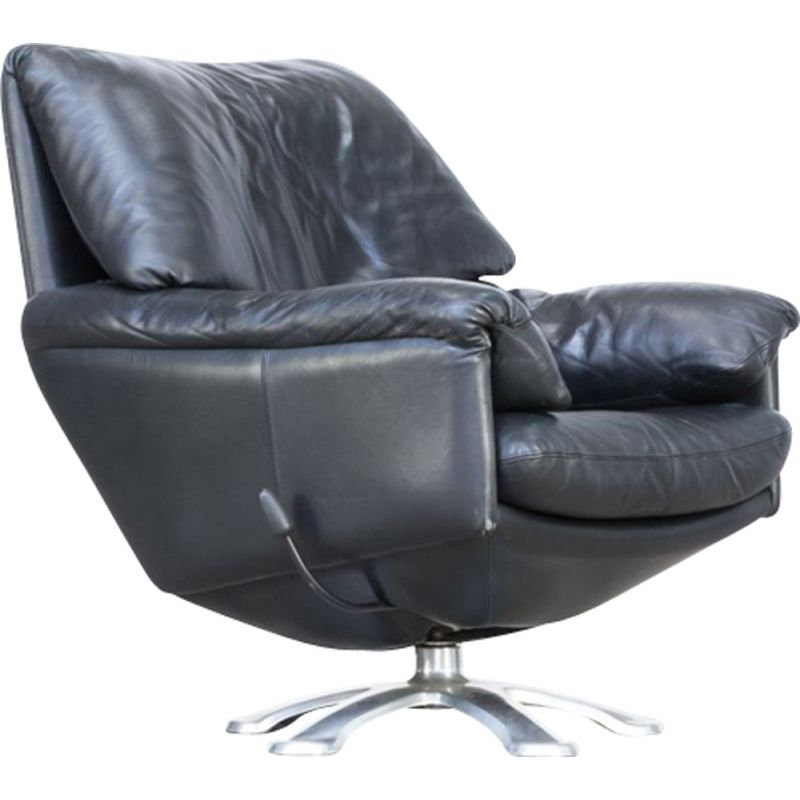 Design Fauteuil Leolux.Vintage Black Leather Armchair Model 200 By Axel Enthoven For