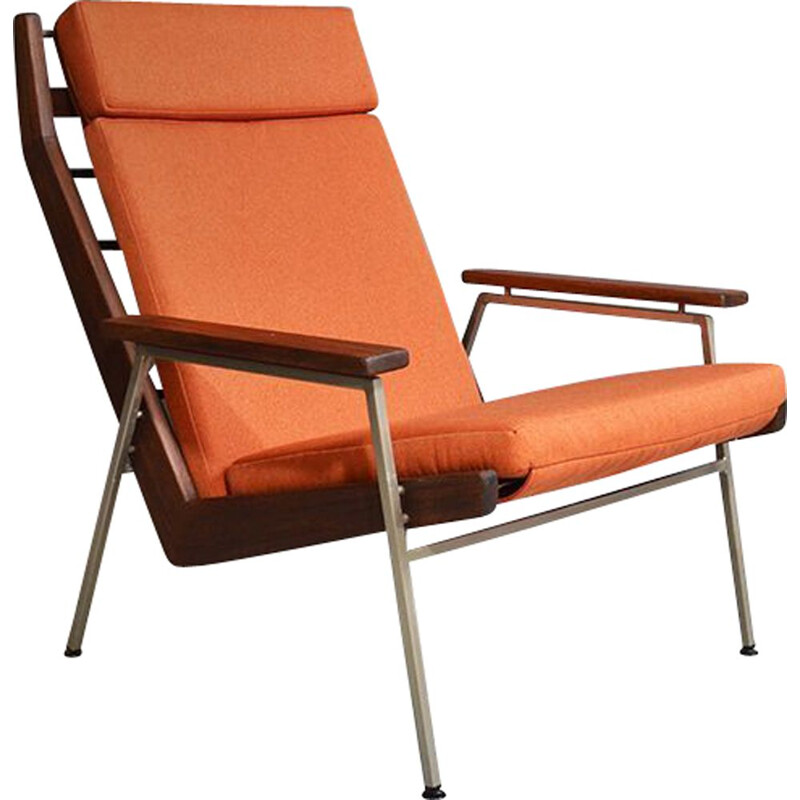 Vintage Lotus orange armchair by Rob Parry for Gelderland