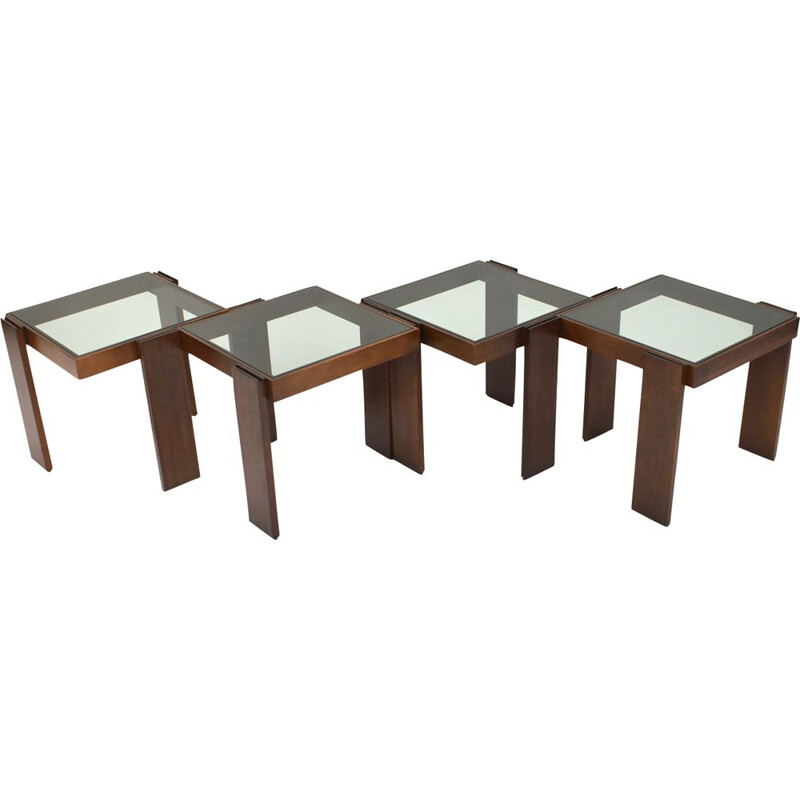 Set of 4 stackable coffee tables by Cassina