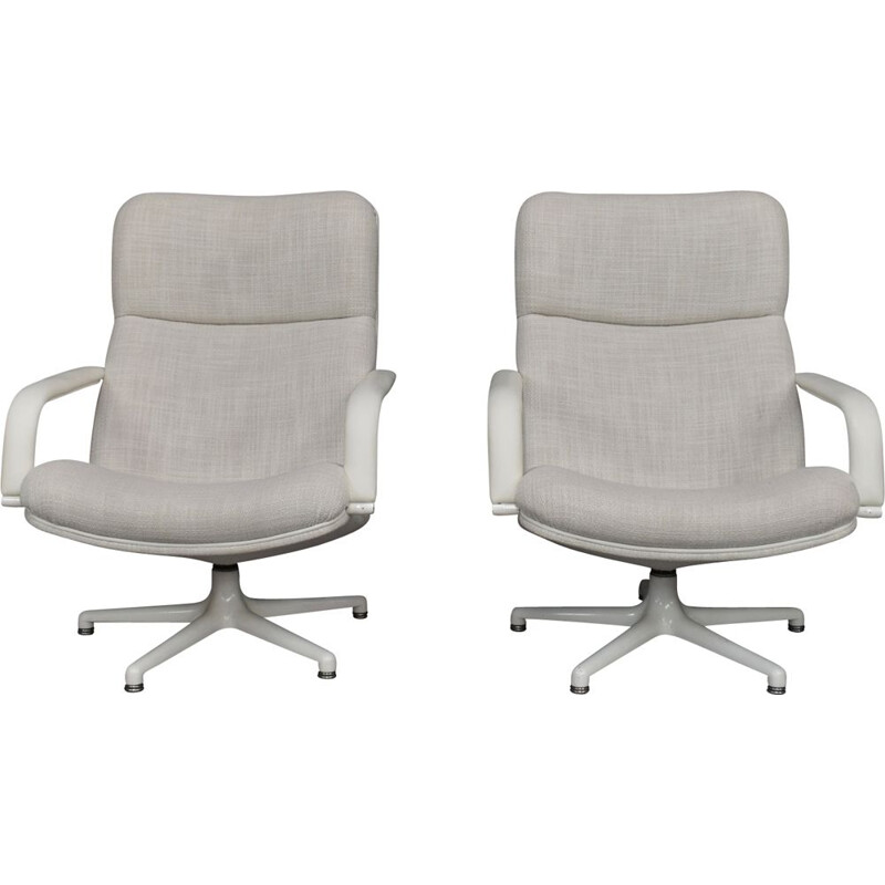 Set of 2 vintage lounge chairs F154 by Geoffrey Harcourt