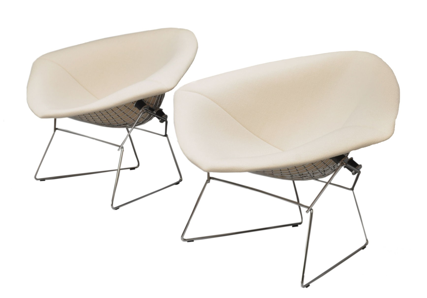 Diamond Chair in chromium fabric and steel Harry BERTOIA