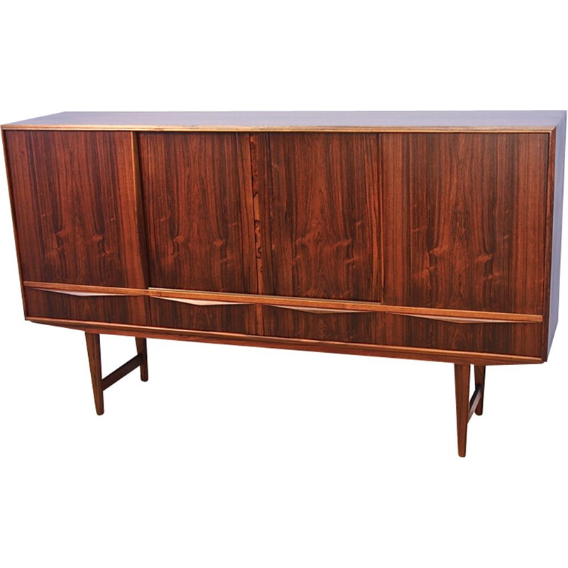 Danish higboard in rosewood by E.W. Bach for Sejling Skabe