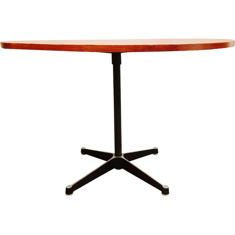Vintage high teak table by Charles and Ray Eames for Herman Miller