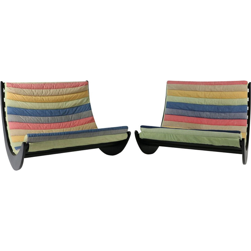 Set of 2 vintage armchairs by Verner Panton for Rosenthal