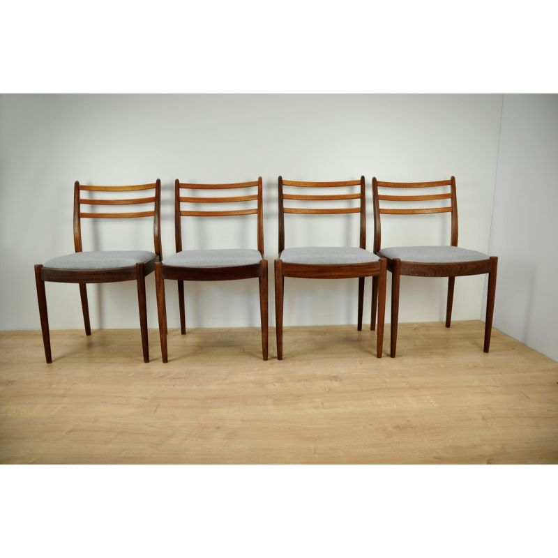 Astonishing Set Of 4 Grey Vintage Dining Chairs By V Wilkins For G Plan Dailytribune Chair Design For Home Dailytribuneorg