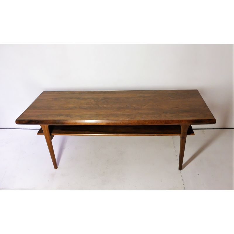 Table Basse Bois Vintage.Vintage Scandinavian Coffee Table In Rosewood 1960