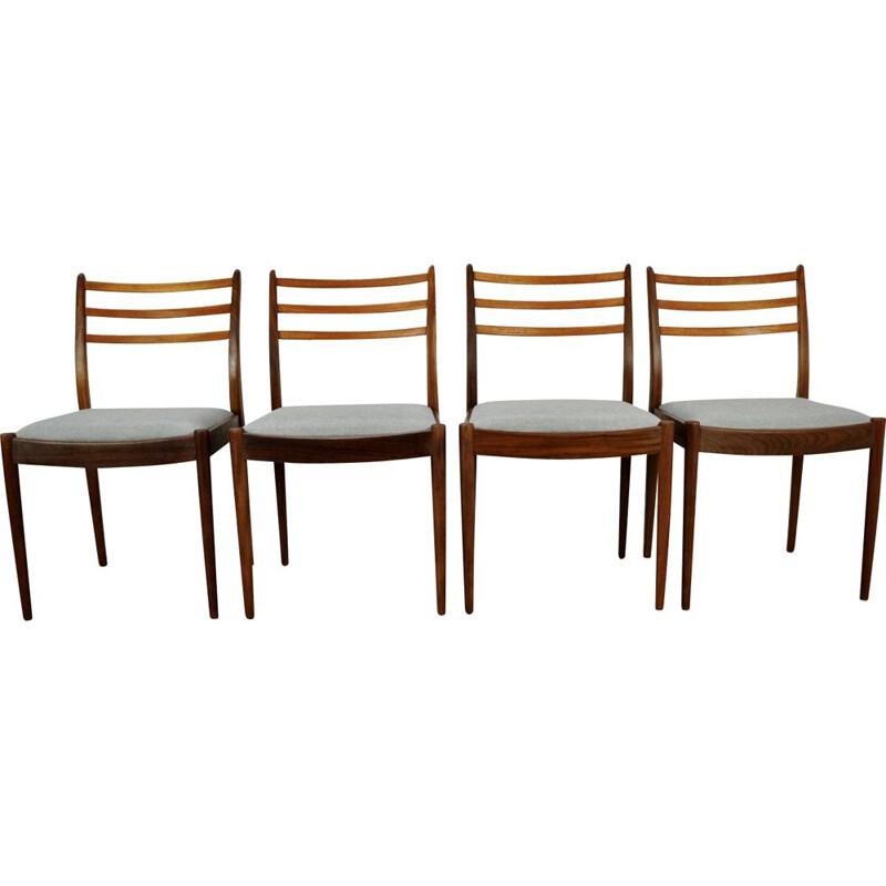 Set of 4 grey vintage dining chairs by V. Wilkins for G- Plan