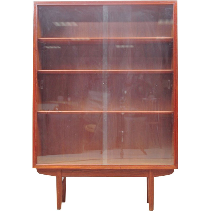 Scandinavian teak Bookcase with glass doors, Borge Mogensen