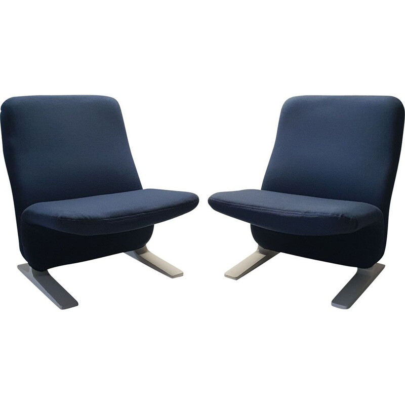 "Set of 2 vintage armchairs ""Concorde F780"" by Pierre Paulin for Artifort"