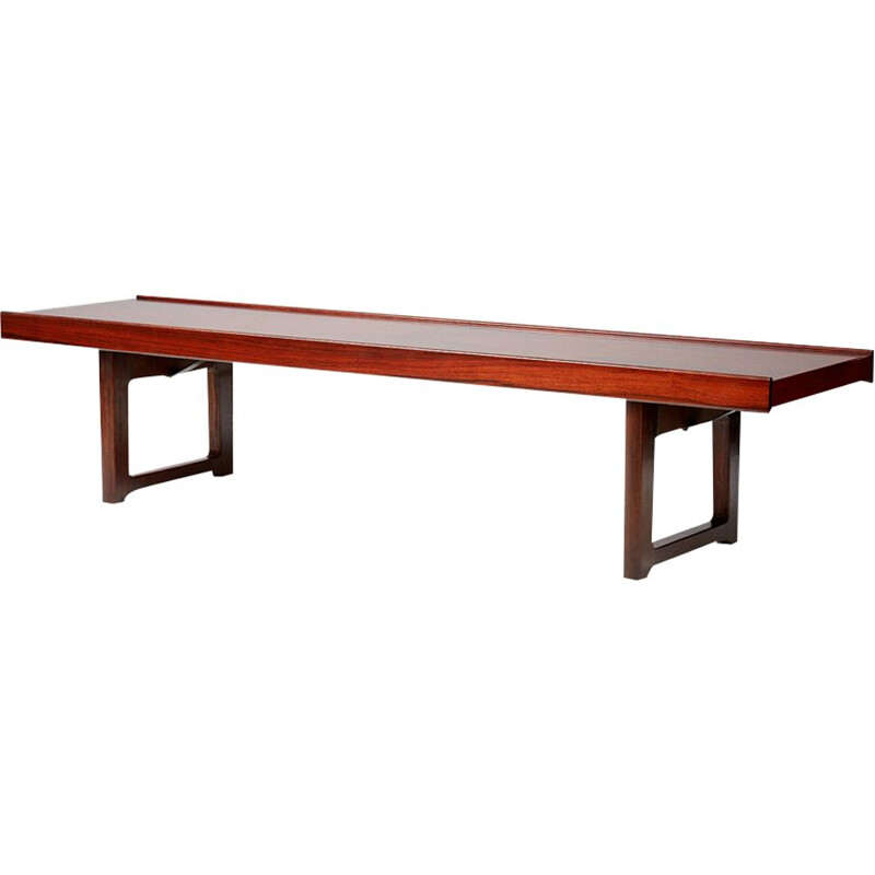 Vintage Norwegian bench in rosewood by Torbjorn Afdal for Bruksbo