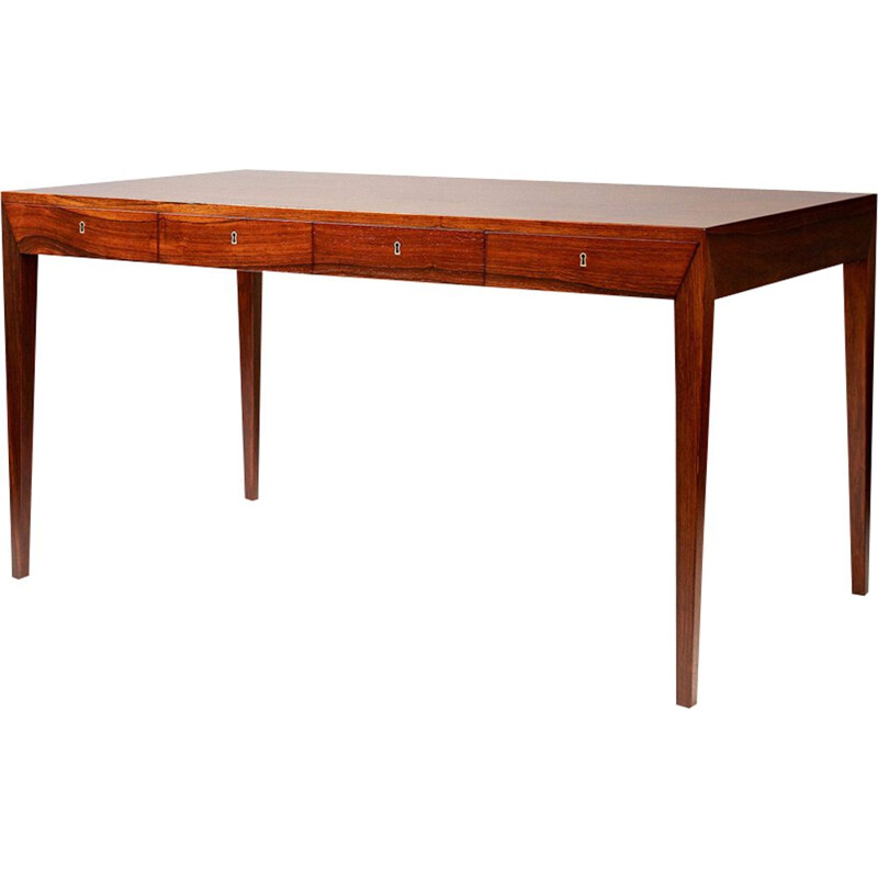 Vintage Danish desk in rosewood by Severin Hansen