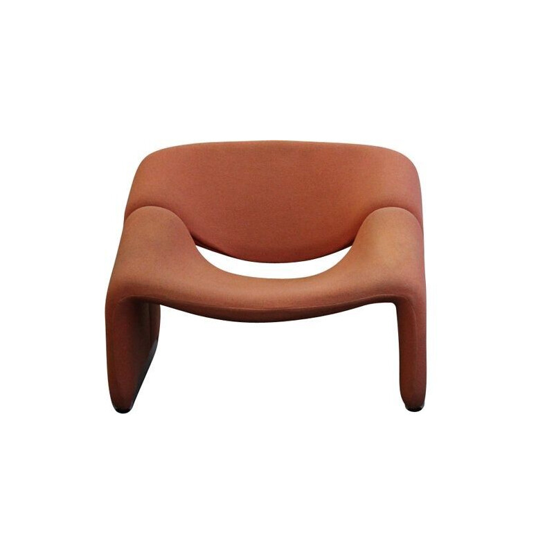 "Vintage orange armchair ""Groovy"" by Pierre Paulin for Artifort"