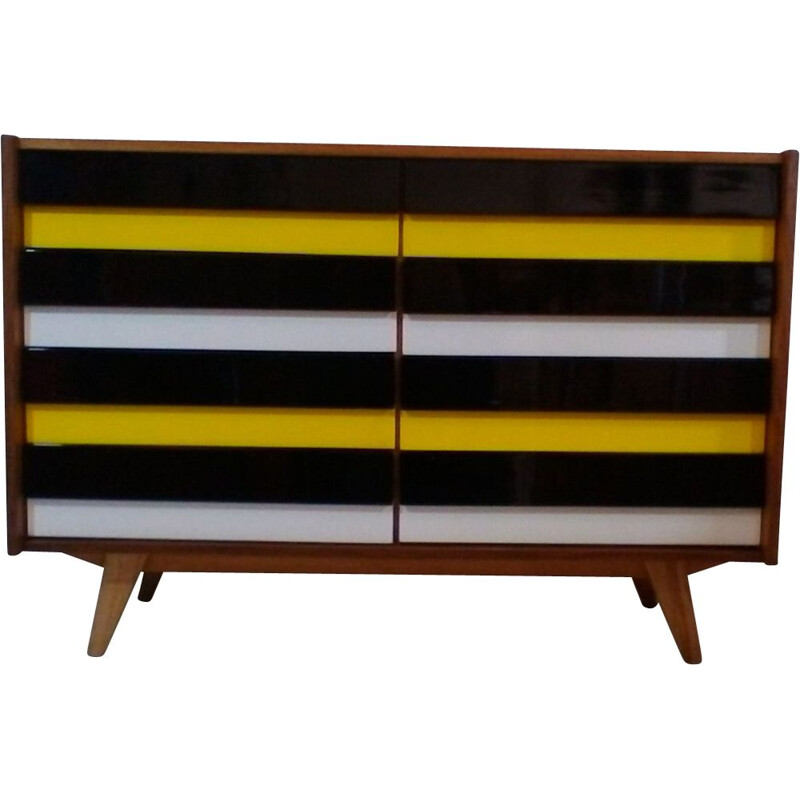 Vintage chest of drawers in oakwood by Interier Praha 1960