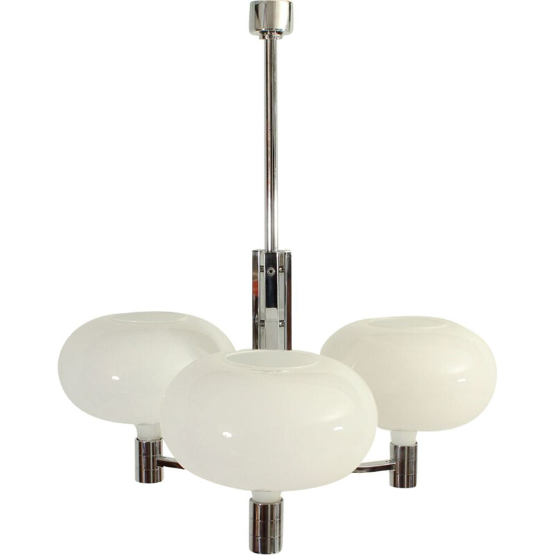 Vintage triple hanging lamp by Franco Albini for Sirrah