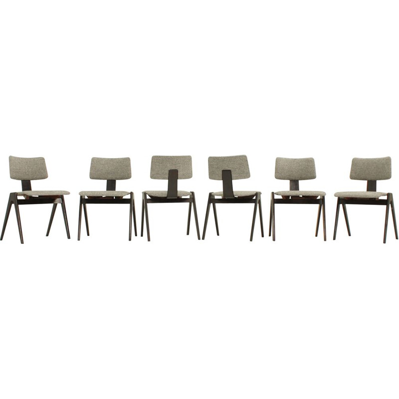 Set of 6 viintage Hillestak dining chairs by Robin and Lucienne Day