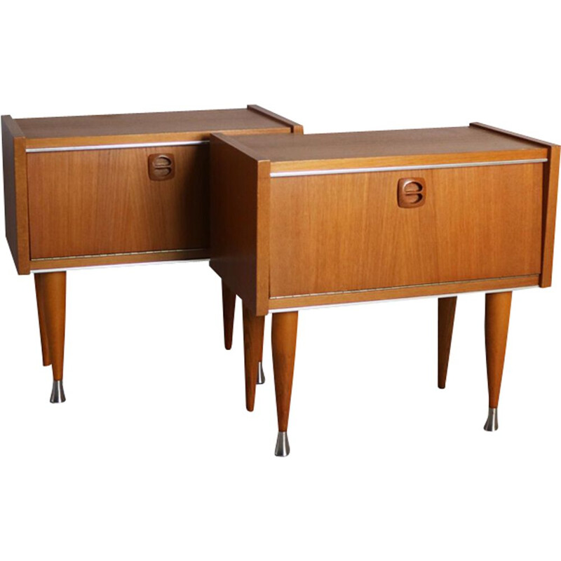 Pair of vintage french night stands from 1960