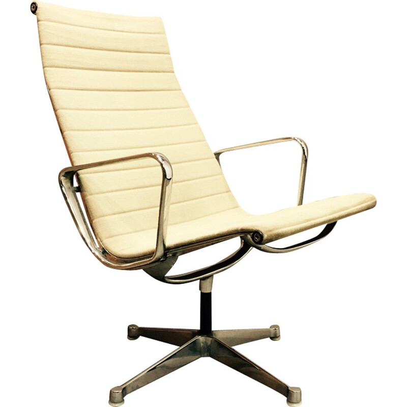 Vintage beige armchair Charles and Ray Eames EA116 1960