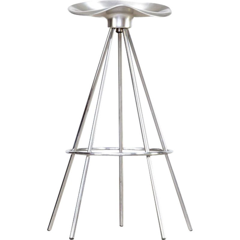 Vintage stool in aluminum by Pepe Cortes