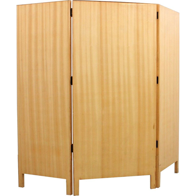Vintage room divider with three doors