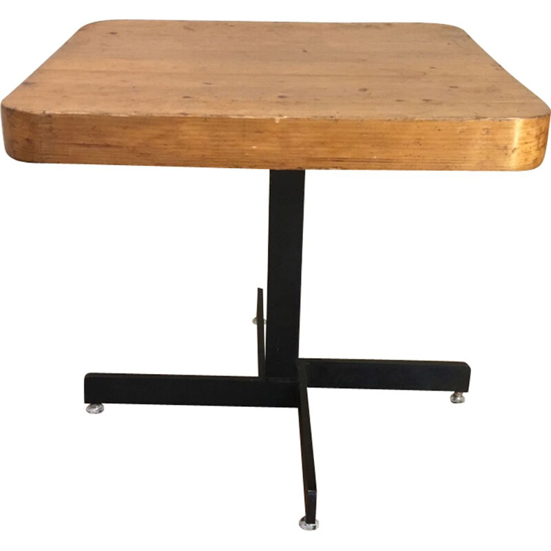 Vintage adjustable sidetable by Charlotte Perriand for les arcs