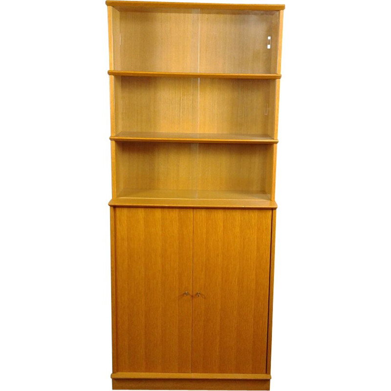 Vintage wooden library Didier Rozaffi for Oscar 1950