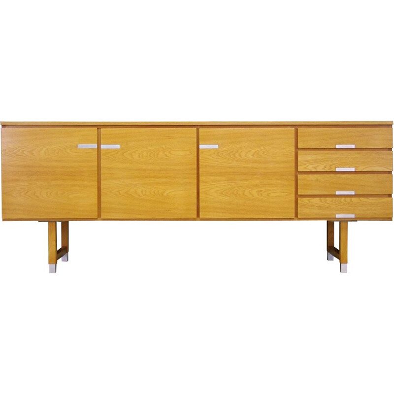 Vintage Danish sideboard in ash wood by Kai Kristiansen