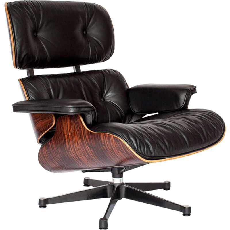 Vintage armchair in rosewood by Eames for Vitra